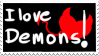 I love demons stamp by Sniper-Huntress