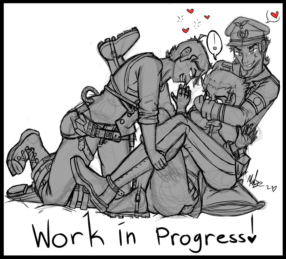 Fight For Kisses 2016 Redraw (Wip Sketch) by Sniper-Huntress