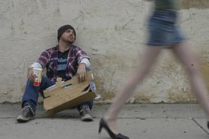 Homeless by felinefairy