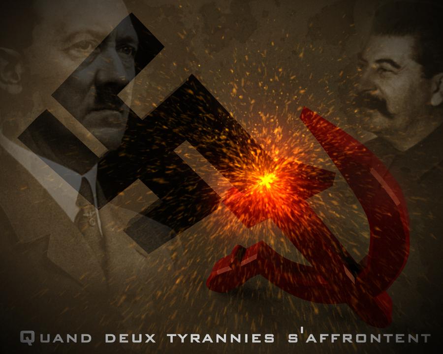 Hitler VS Stalin by xposedbones