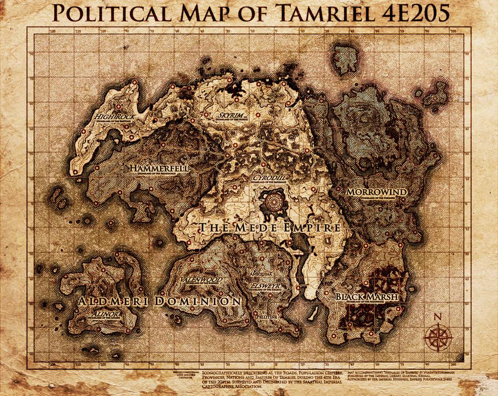 Elder Scrolls: Political Map Tamriel by SkullSmithy on DeviantArt