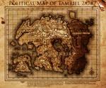 Elder Scrolls: The Volk Empire Map of Tamriel