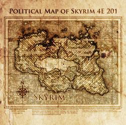 Elder Scrolls: Political map of Skyrim 4E201