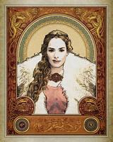 CURRENT: GOT AU: Cersei Stark by SkullSmithy