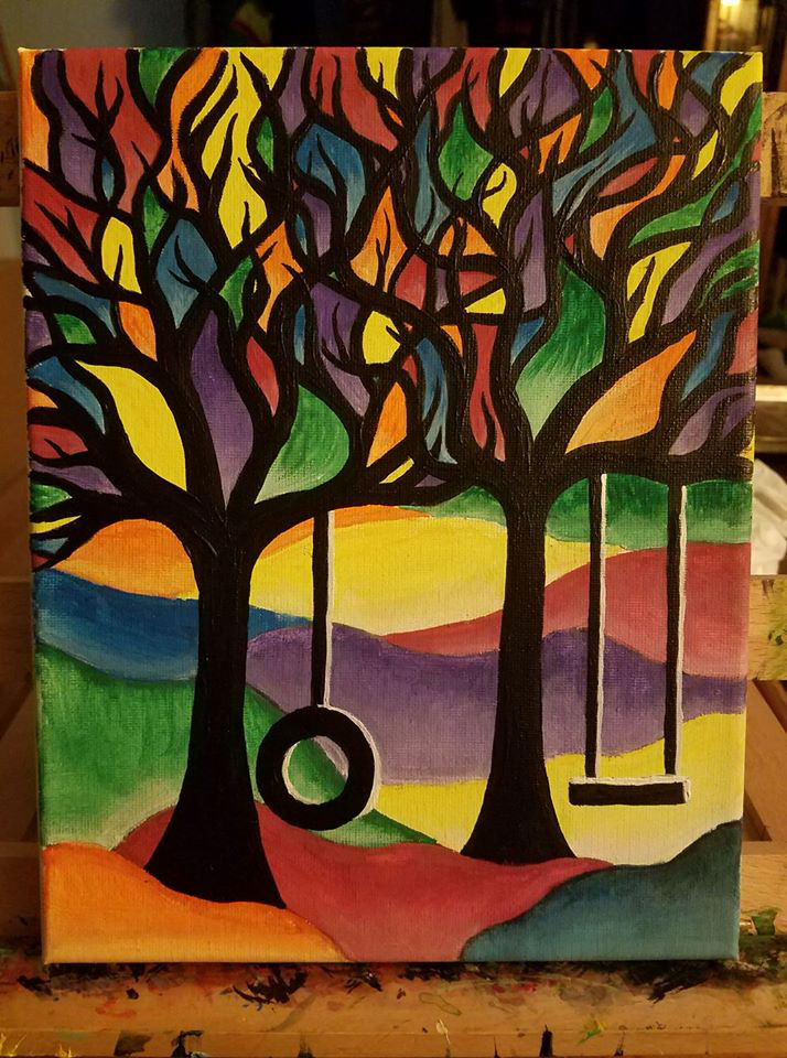 Stained Glass Trees By Inkbound On, Stained Glass Trees Images