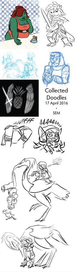 Collected Doodles 17 April 2016