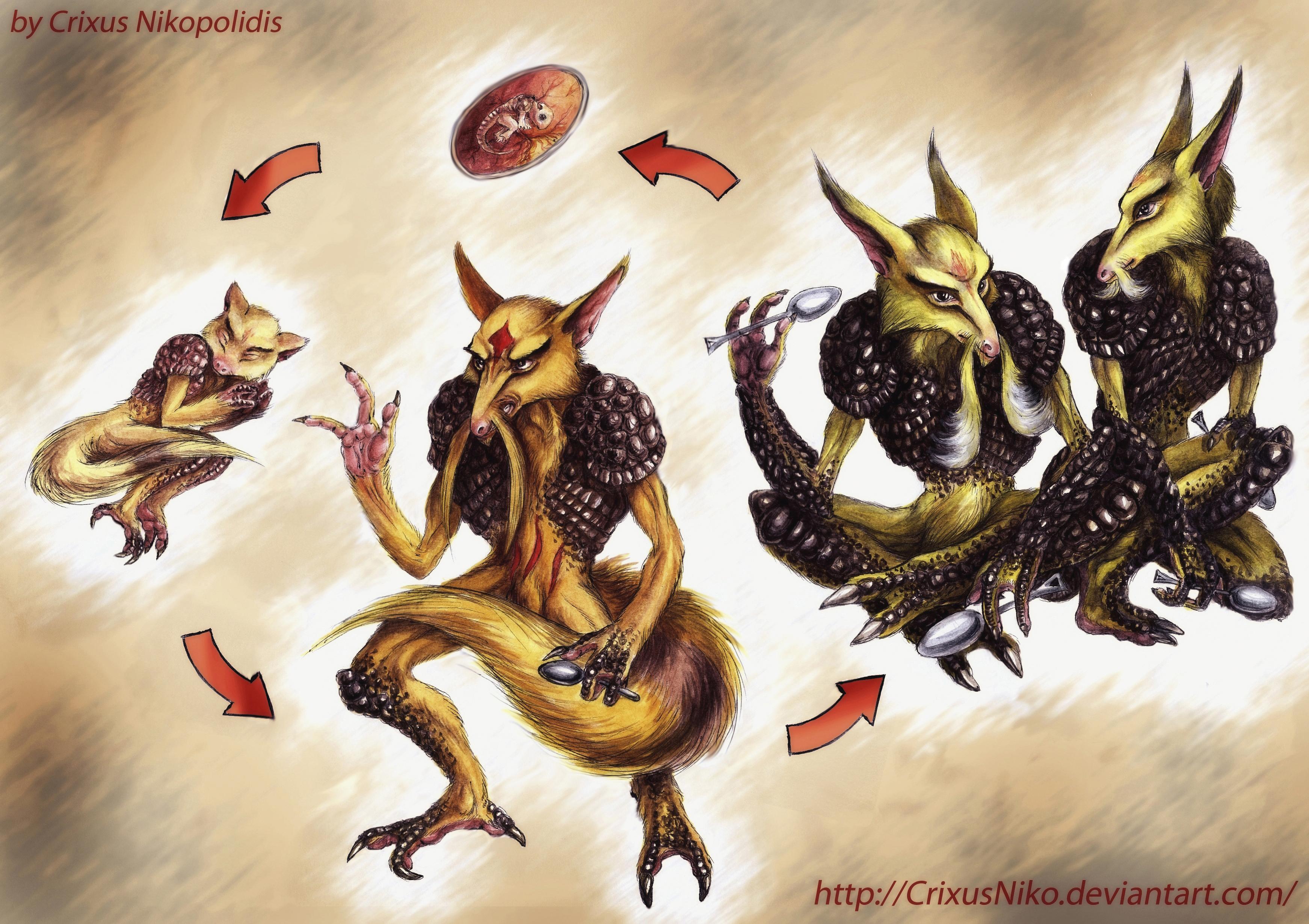 Realistic Kadabra Circle of Life by Crix...