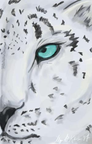 Snow Leopard Digital by ForeverEryn