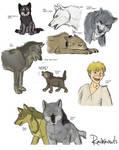 Sketchdump (OC and Wolf's Rain)