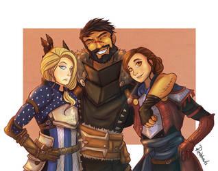 The Warden, the Champion, the Inquisitor by rainhowlspl