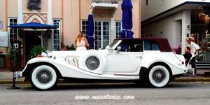 Old White Car