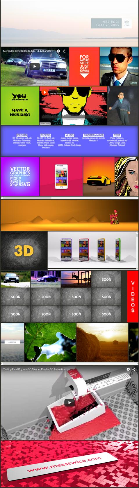 Webdesign work in progress - screenshot by messtwice