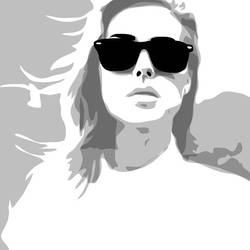 Vector portrait, only shadows