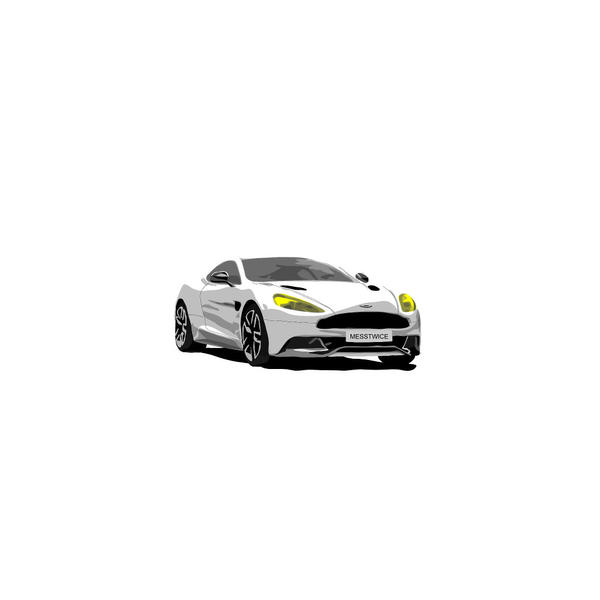 Vector Aston Martin Vanquish by messtwice