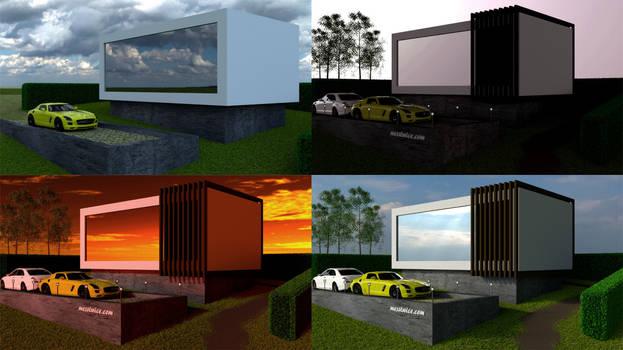 Minimal Cube House Render