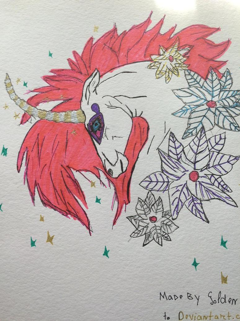 Unicorn  by GoldenWolfStars