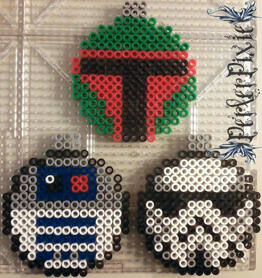 Star Wars Ornaments by PerlerPixie