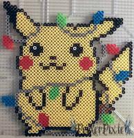 Pikachu Lights by PerlerPixie