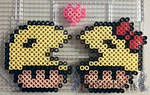 Mr. and Mrs. Pac-Man Mushrooms