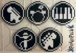 Rock Band Coasters