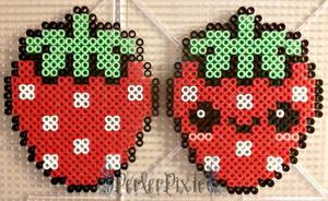 Cute Strawberries by PerlerPixie