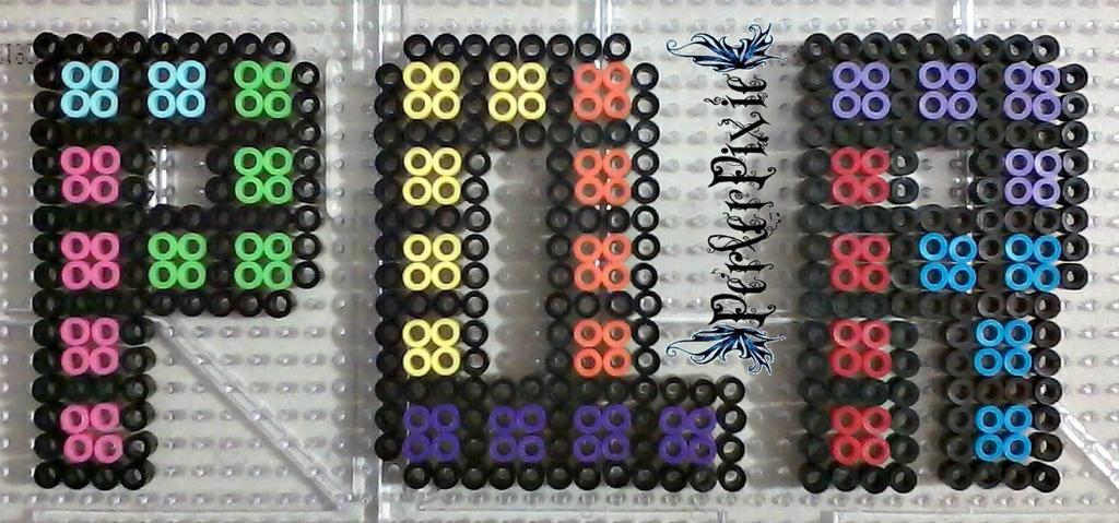 Perler Beads Letter J - Bead Pattern (Free)