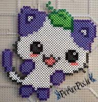 Grape Kitty by PerlerPixie