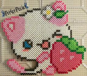 Strawberry Kitty by PerlerPixie