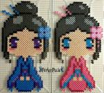 Blue and Pink Kimono Girls