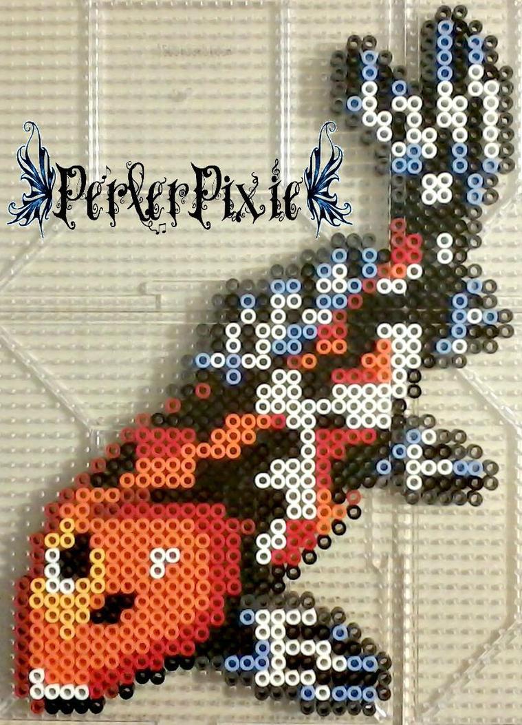 Koi fish by perlerpixie on deviantart for Koi fish beads