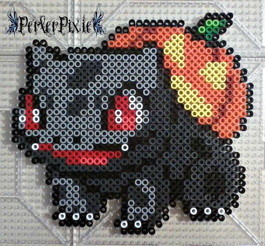 Halloween Bulbasaur by PerlerPixie
