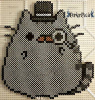 Fancy Pusheen by PerlerPixie