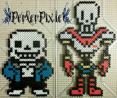 Sans and Papyrus by PerlerPixie