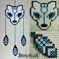 Wolf DreamCatcher by PerlerPixie