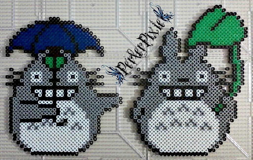 Rainy Day Totoro by PerlerPixie on DeviantArt