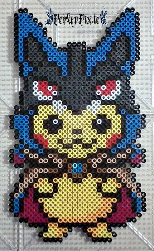 Pikachu in a Mega Lucario Hoodie by PerlerPixie on DeviantArt