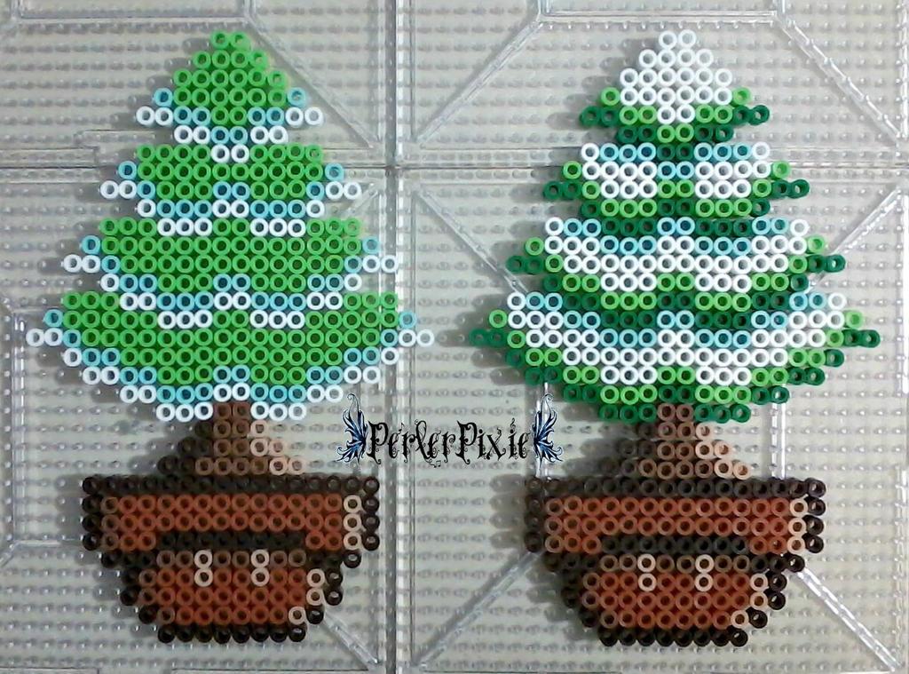 Winter Tree Mushrooms by PerlerPixie
