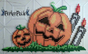 Spooky Pumpkin Patch by PerlerPixie