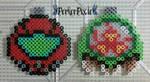 Samus and Metroid Ornaments by PerlerPixie