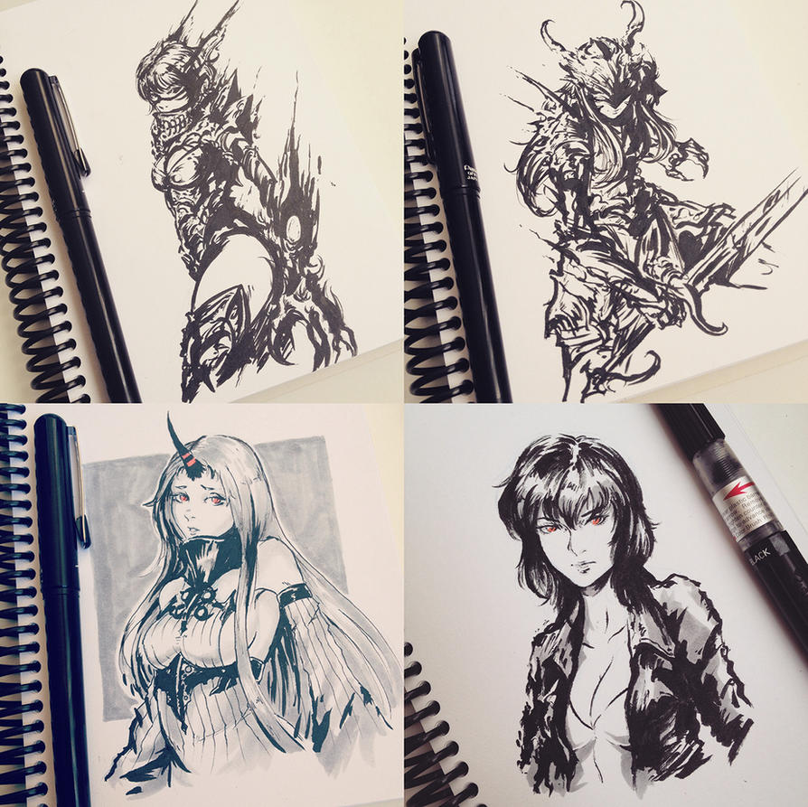 Sketch Compilation I by Sonellion