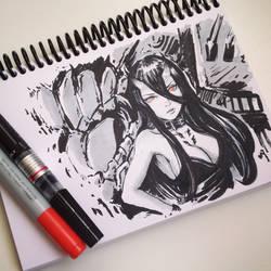 Battleship Princess Sketch by Koyorin
