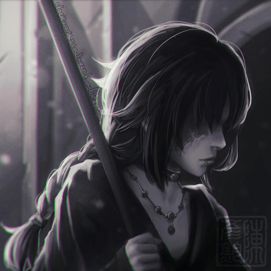 Maiden in Black by Sonellion