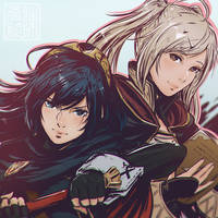 Lucina and Robin by Koyorin