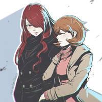 Mitsuru and Yukari Sketch by Koyorin