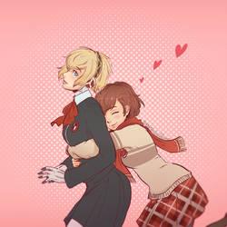 Aigis x Minako - Valentines by Koyorin