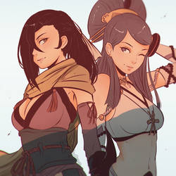 Kagerou and Orochi by Koyorin