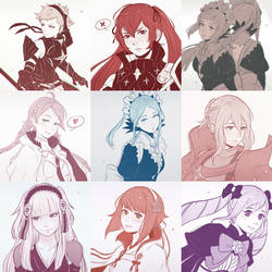 FE Fates Sketch Compilation 2