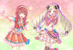 Sakura and Elise - fire emblem in aikatsu stars