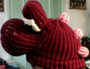 Yoshi hat from side view by DessyS