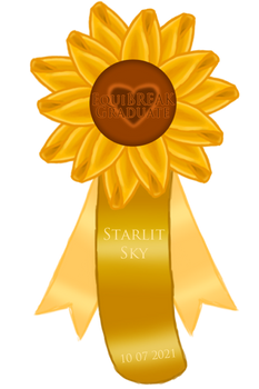 Starlit Sky Graduation Rosette Extras